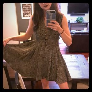 Anthropologie tweed sweet sinammon dress M